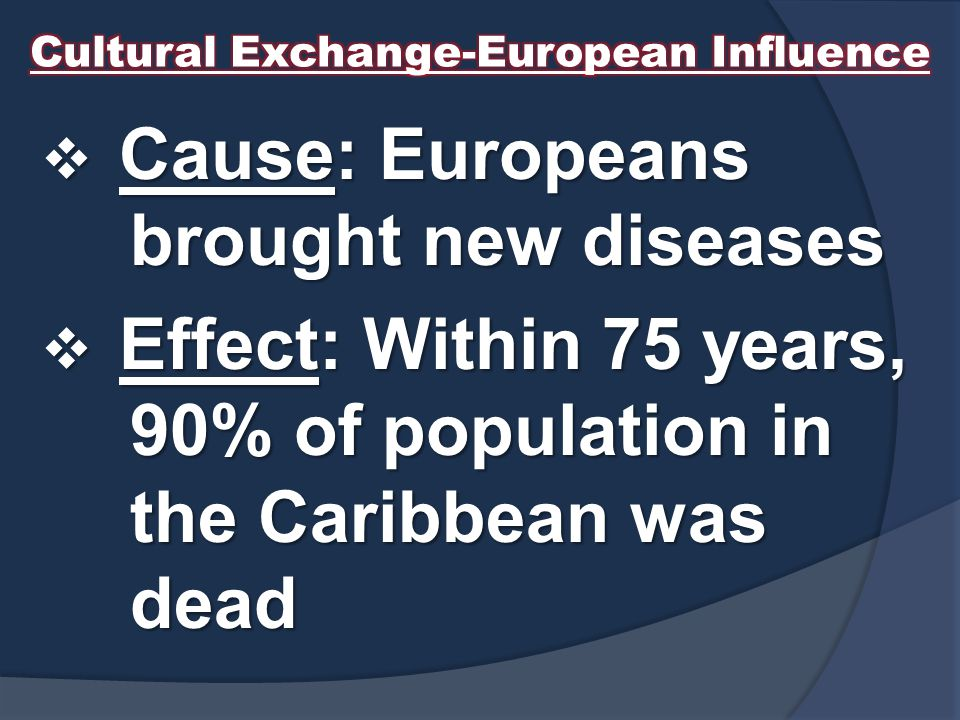 Cultural Exchange-European Influence