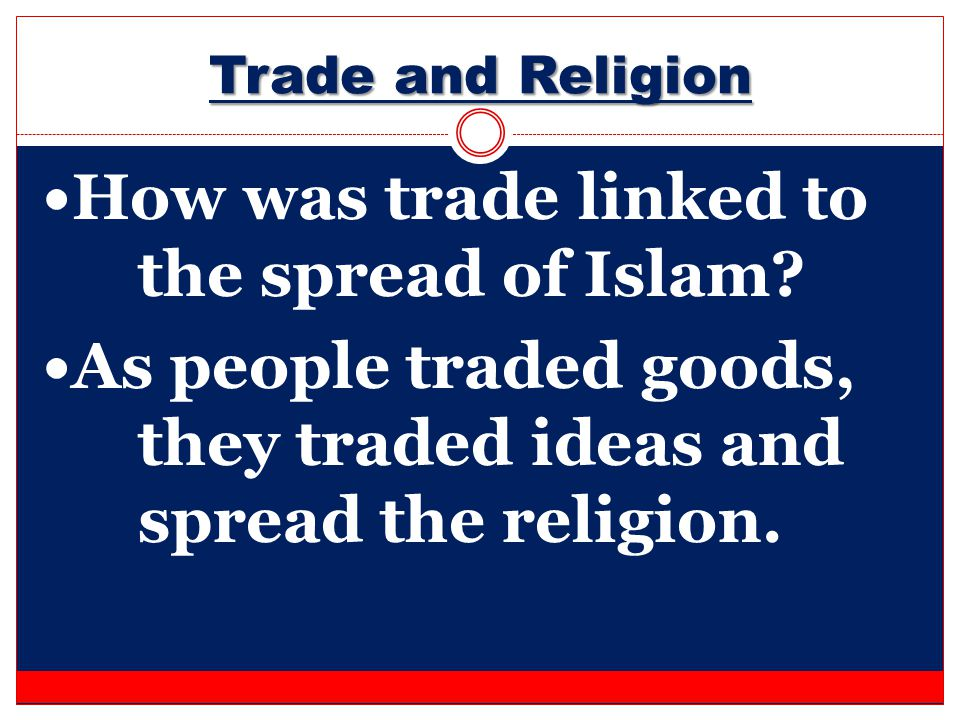 How was trade linked to the spread of Islam