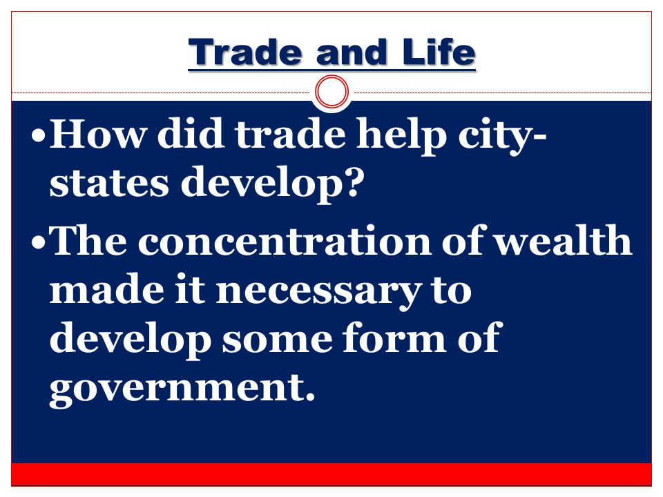 How did trade help city-states develop