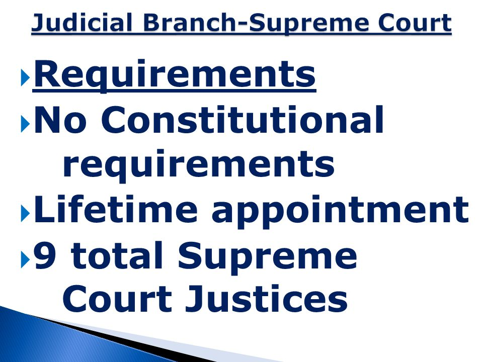Judicial Branch-Supreme Court