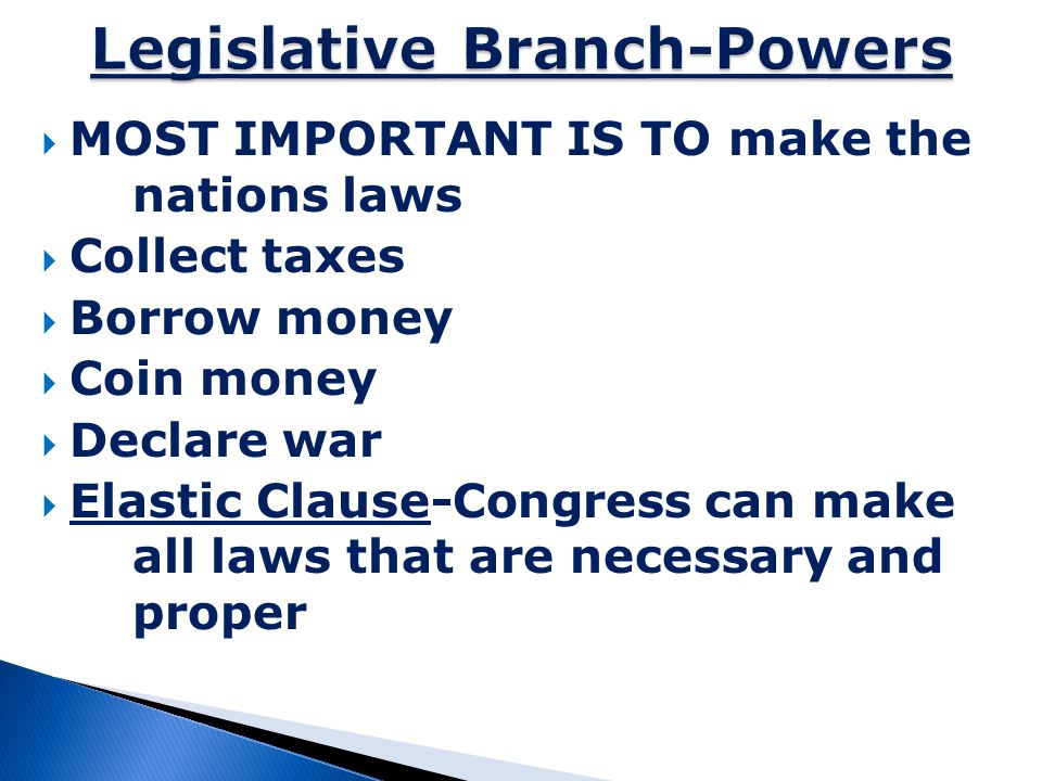Legislative Branch-Powers