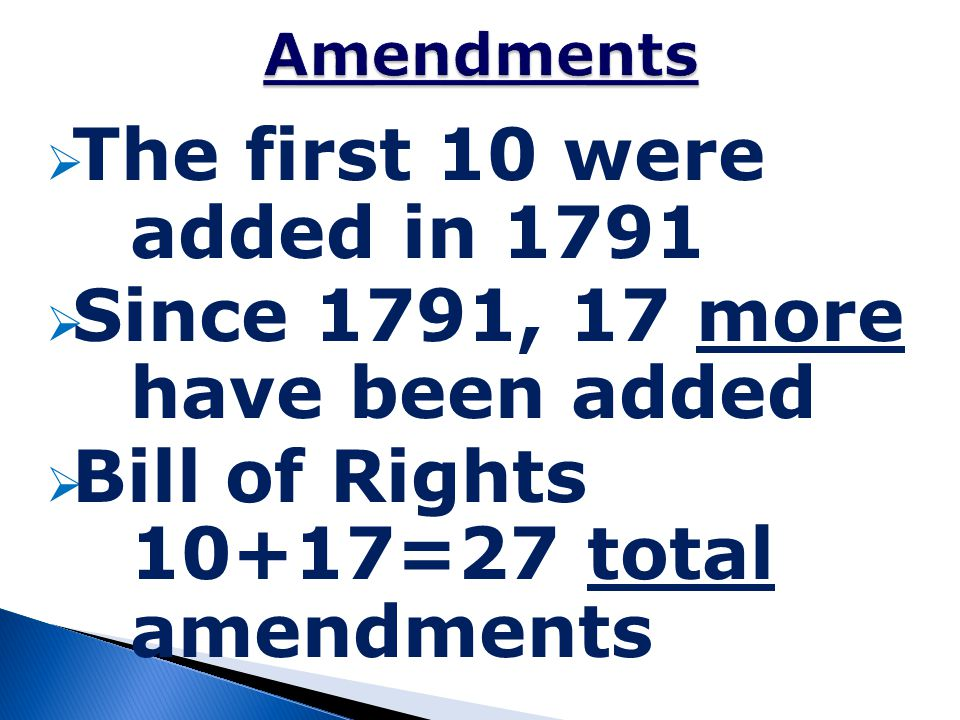 Since 1791, 17 more have been added
