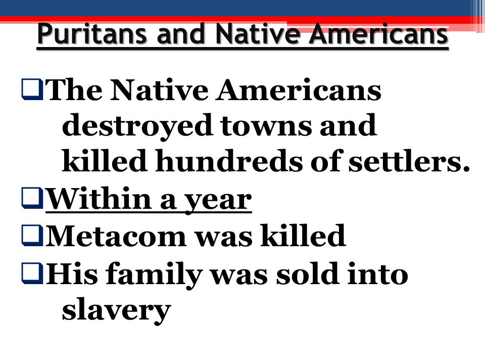 Puritans and Native Americans