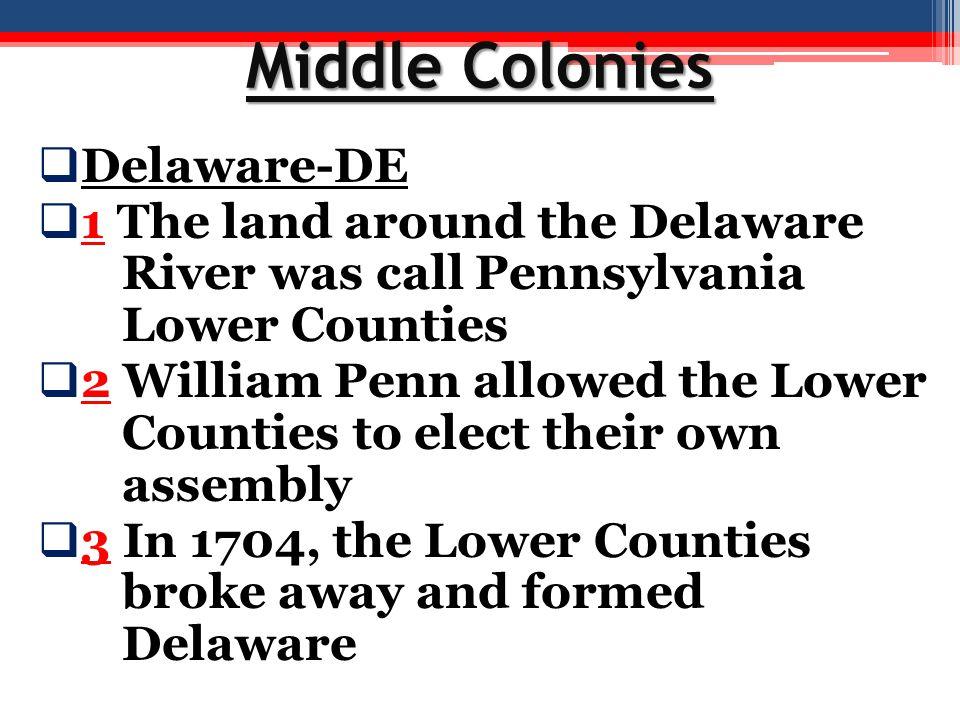 Middle Colonies Delaware-DE