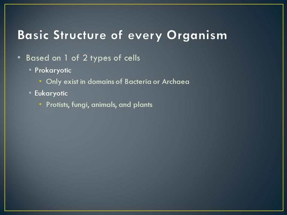 Basic Structure of every Organism