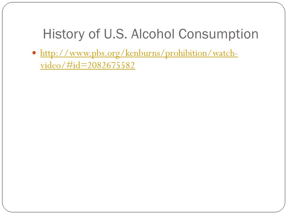 a history of alcohol use A brief history of intoxication, from 50,000 years ago to the present day.