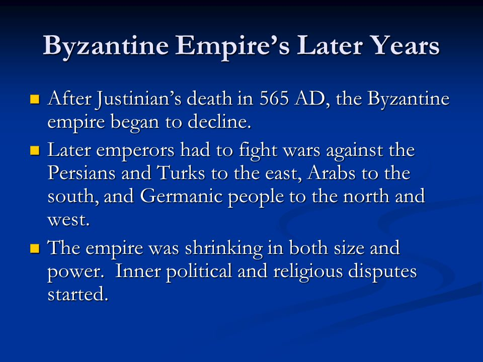 Byzantine Empire's Later Years