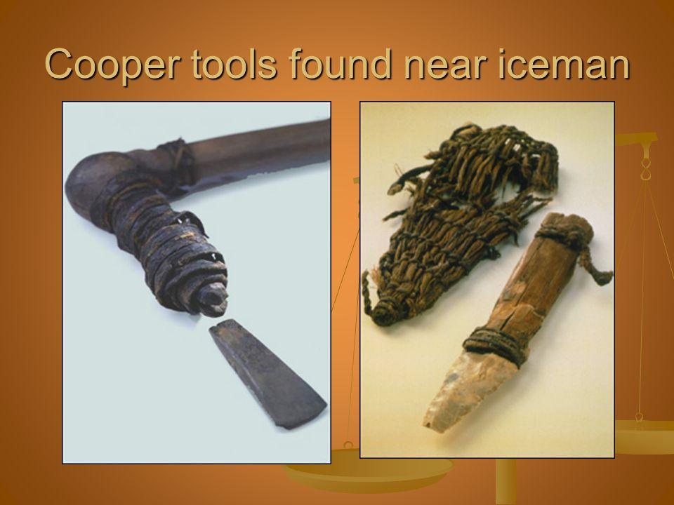 Cooper tools found near iceman