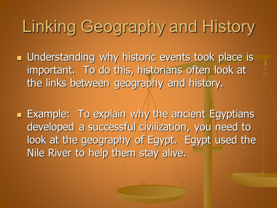 Linking Geography and History