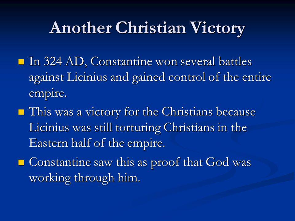 Another Christian Victory