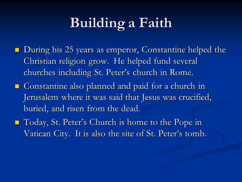 Building a Faith