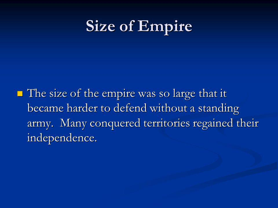 Size of Empire
