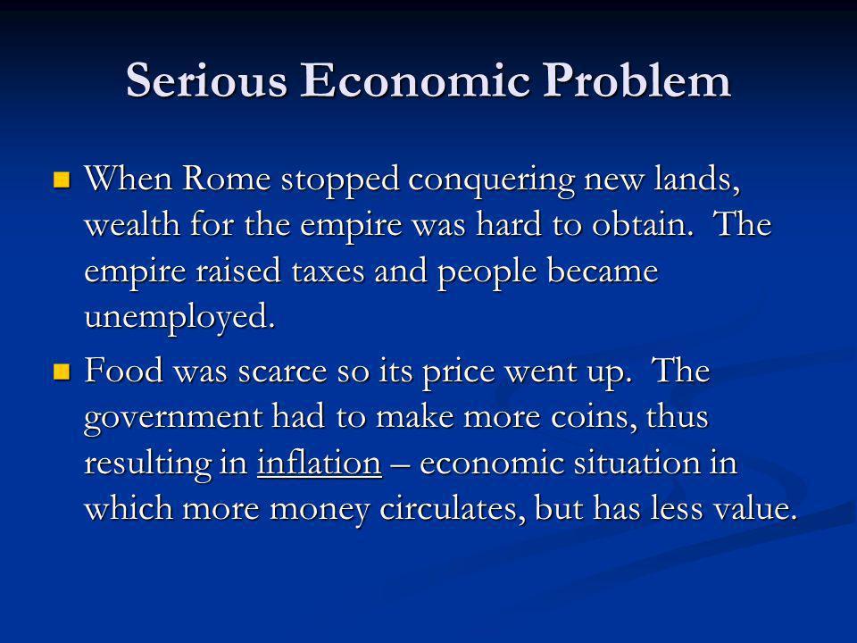 Serious Economic Problem