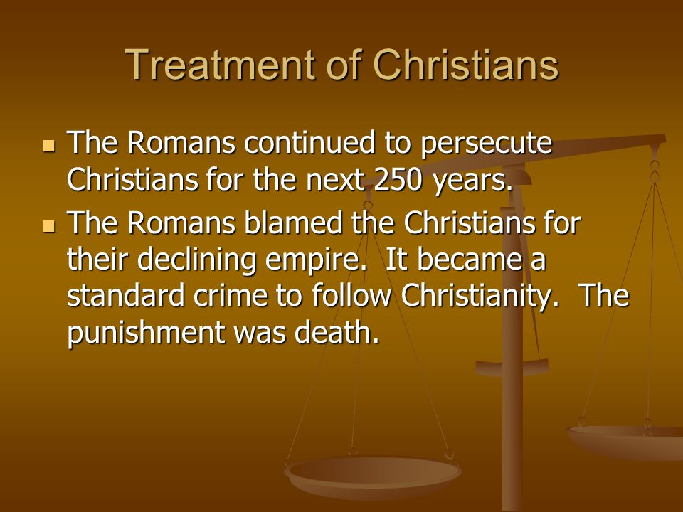 Treatment of Christians