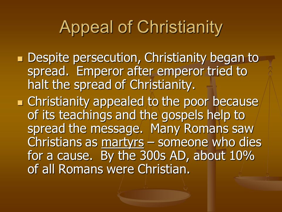 Appeal of Christianity