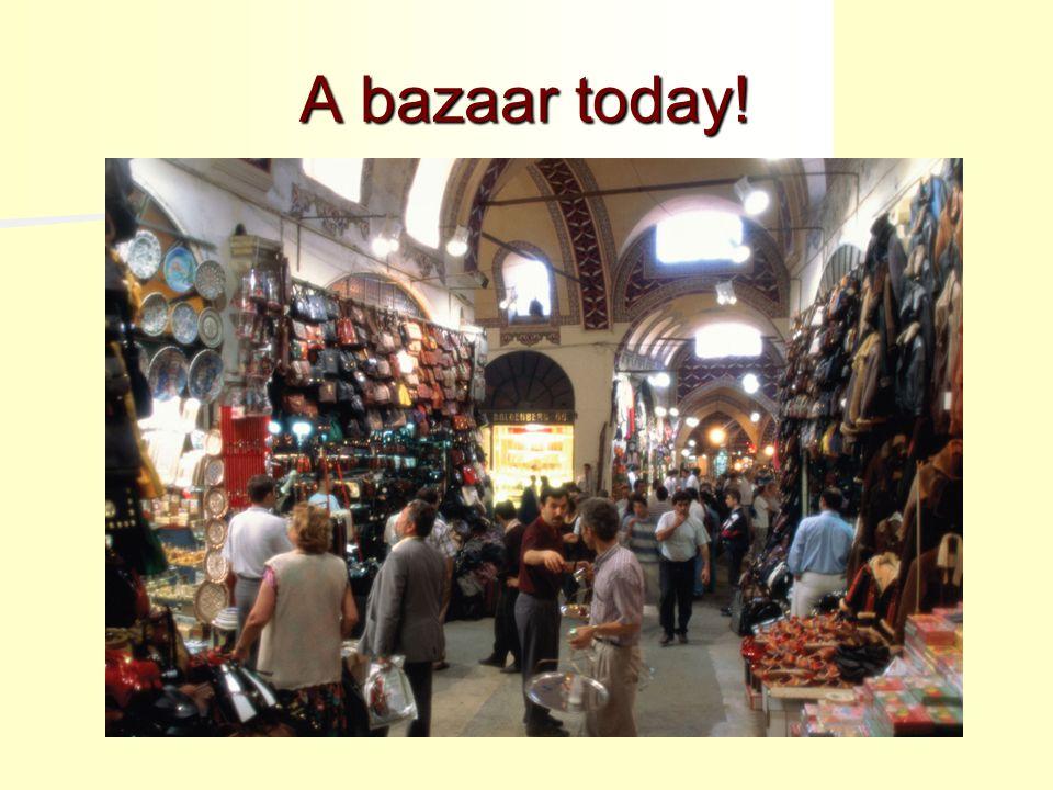 A bazaar today!