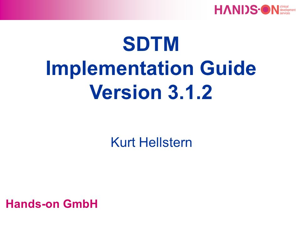 SDTM Implementation Guide Version 3.1.2