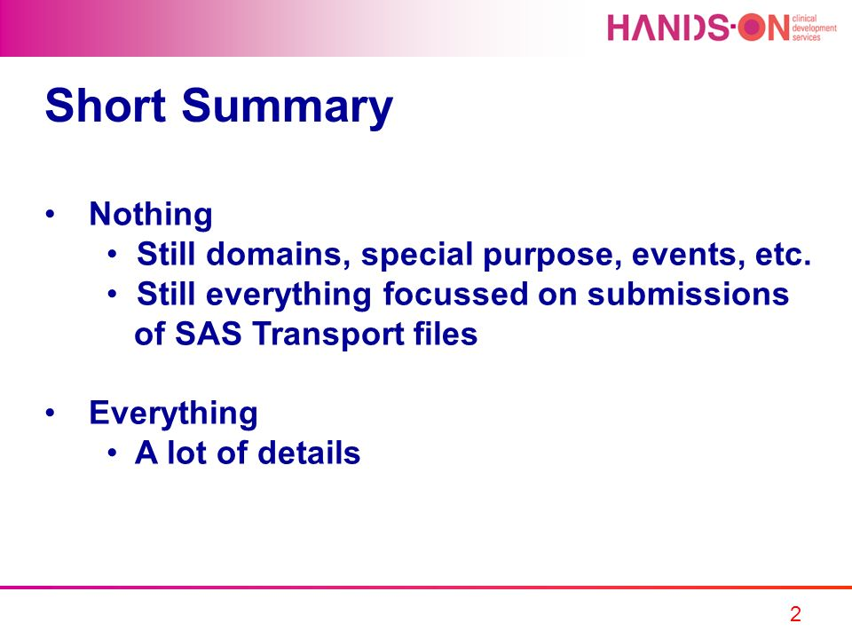Short Summary Nothing Still domains, special purpose, events, etc.