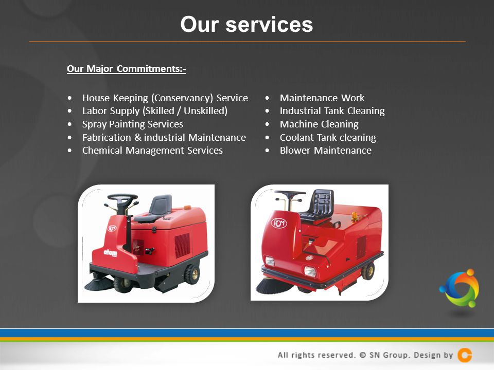 Our services Our Major Commitments:-