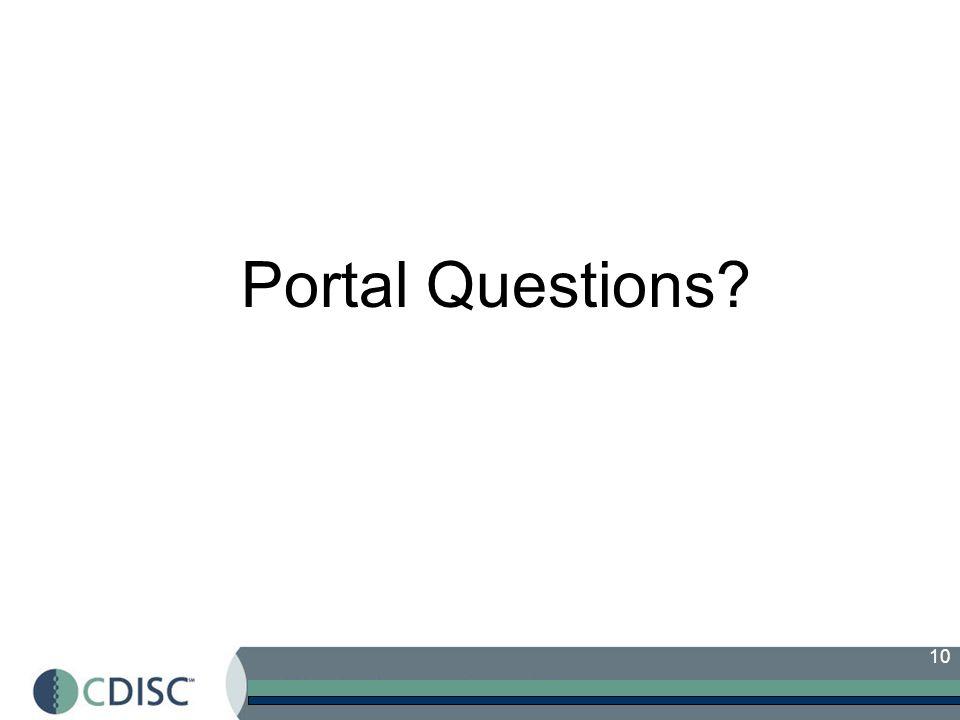 Portal Questions