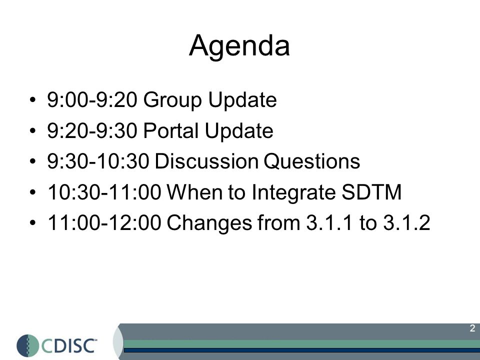 Agenda 9:00-9:20 Group Update 9:20-9:30 Portal Update