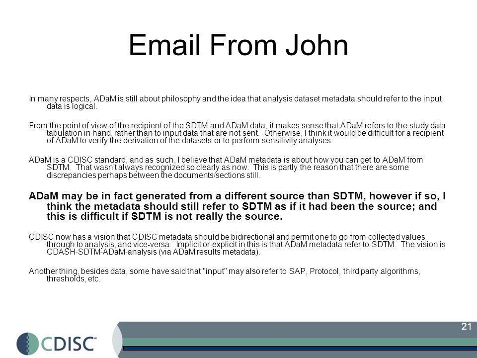Email From John