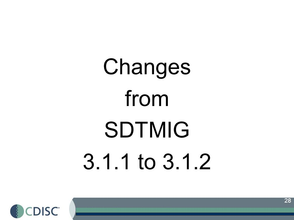 Changes from SDTMIG 3.1.1 to 3.1.2