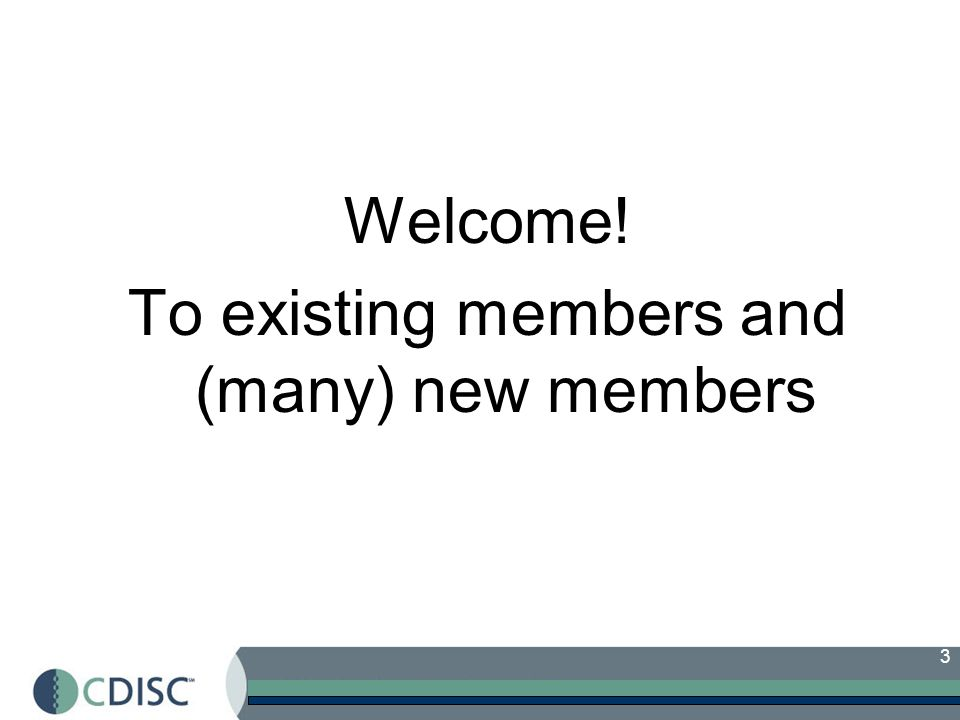 To existing members and (many) new members