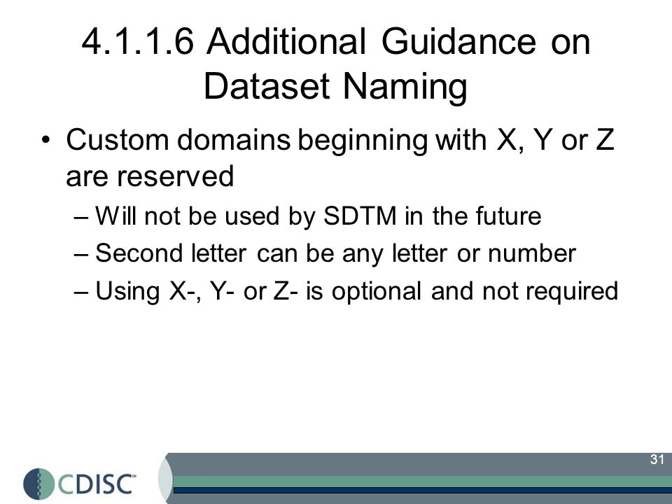 4.1.1.6 Additional Guidance on Dataset Naming
