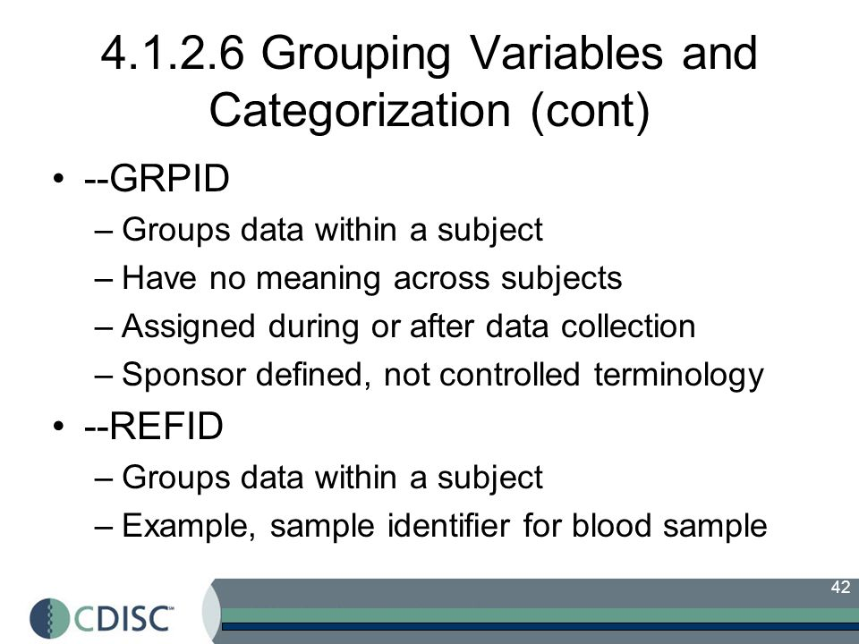 4.1.2.6 Grouping Variables and Categorization (cont)