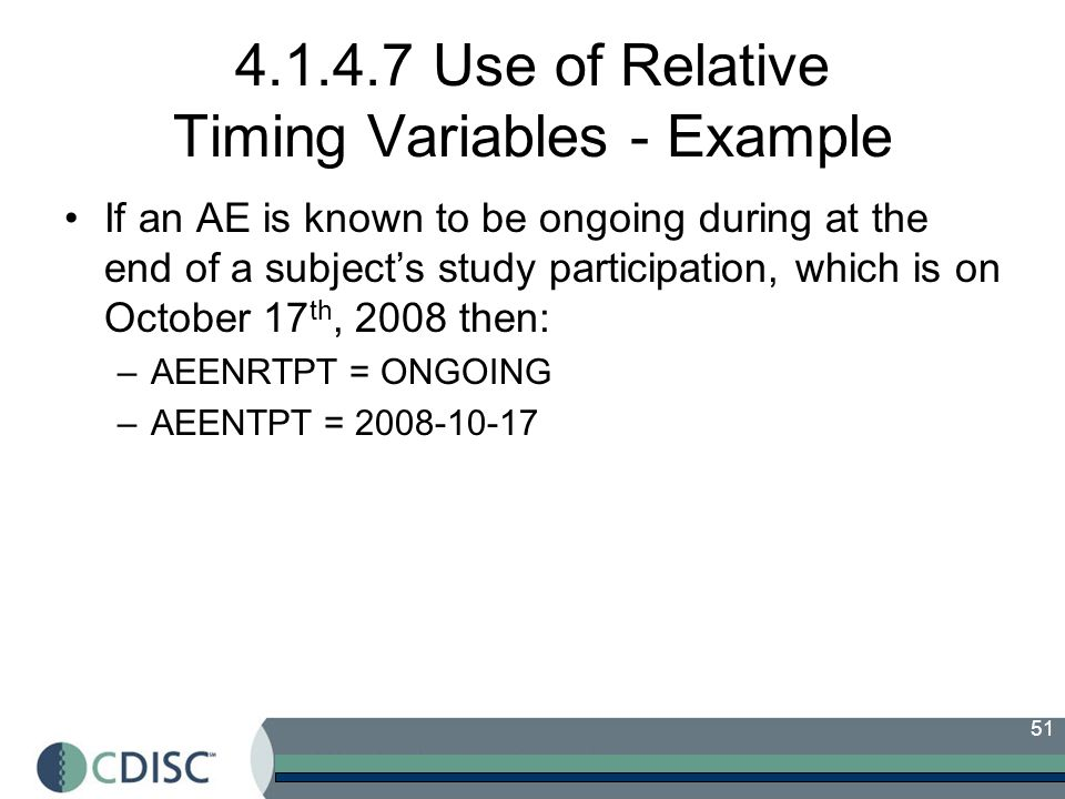 4.1.4.7 Use of Relative Timing Variables - Example