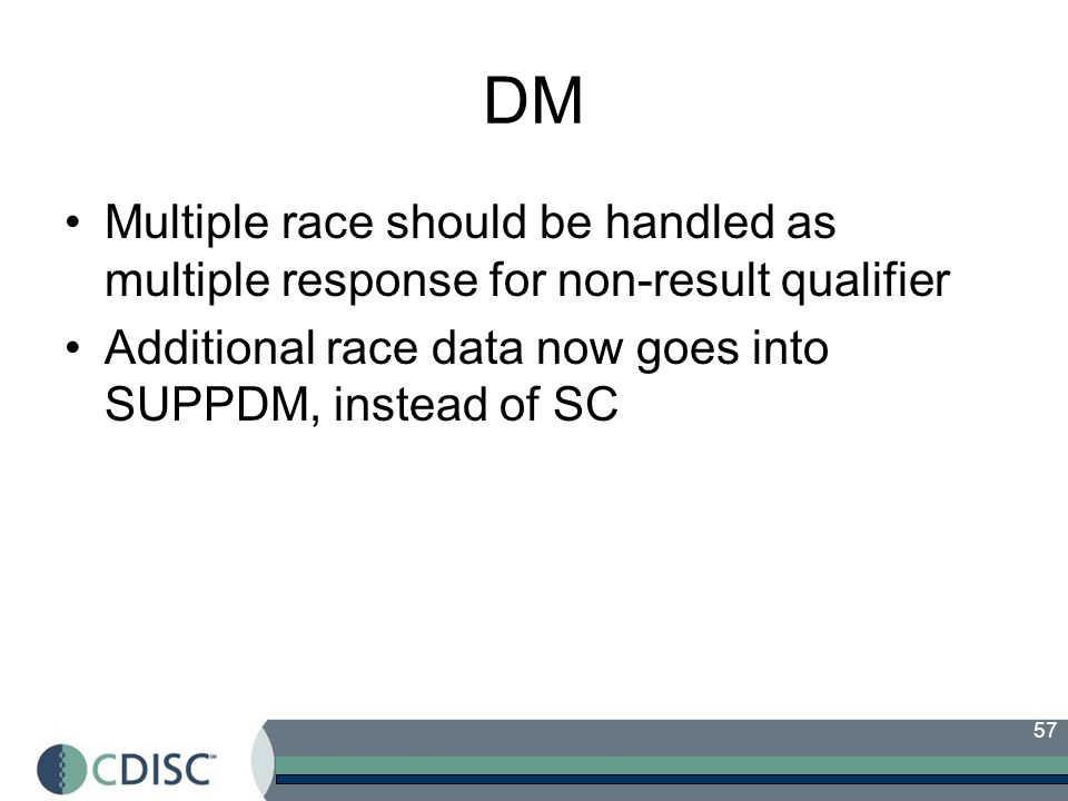 DM Multiple race should be handled as multiple response for non-result qualifier.