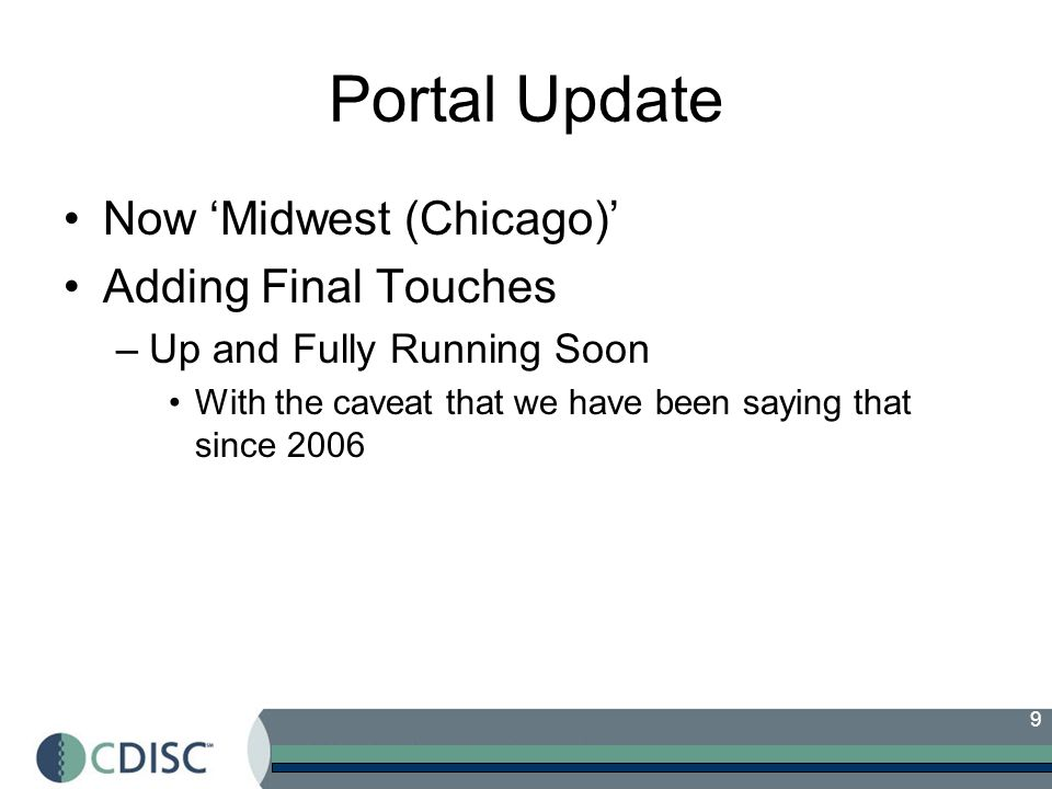 Portal Update Now 'Midwest (Chicago)' Adding Final Touches