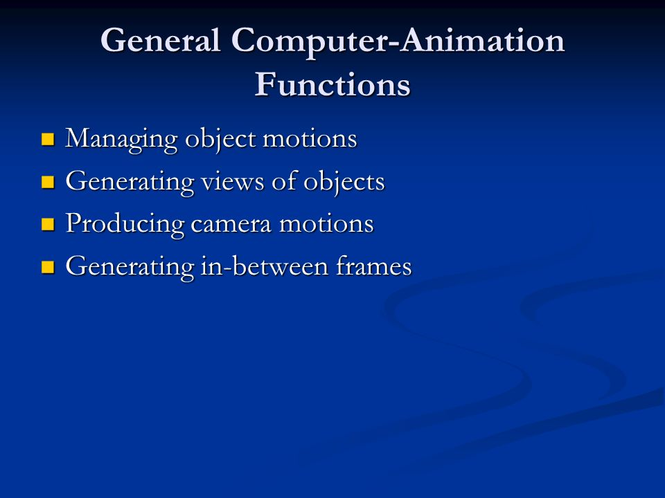 General Computer-Animation Functions