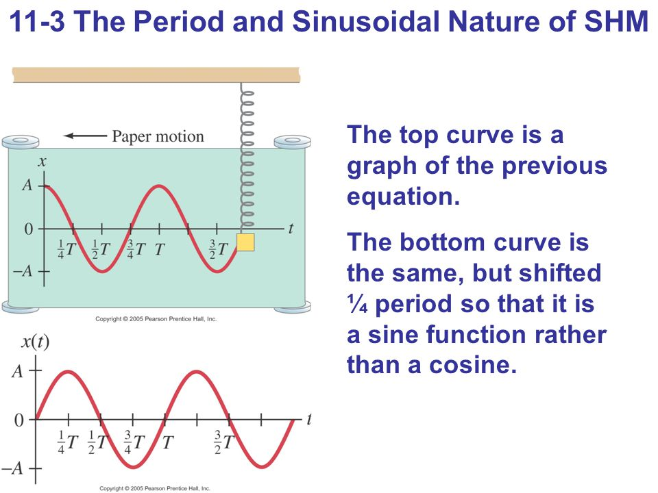 11-3 The Period and Sinusoidal Nature of SHM