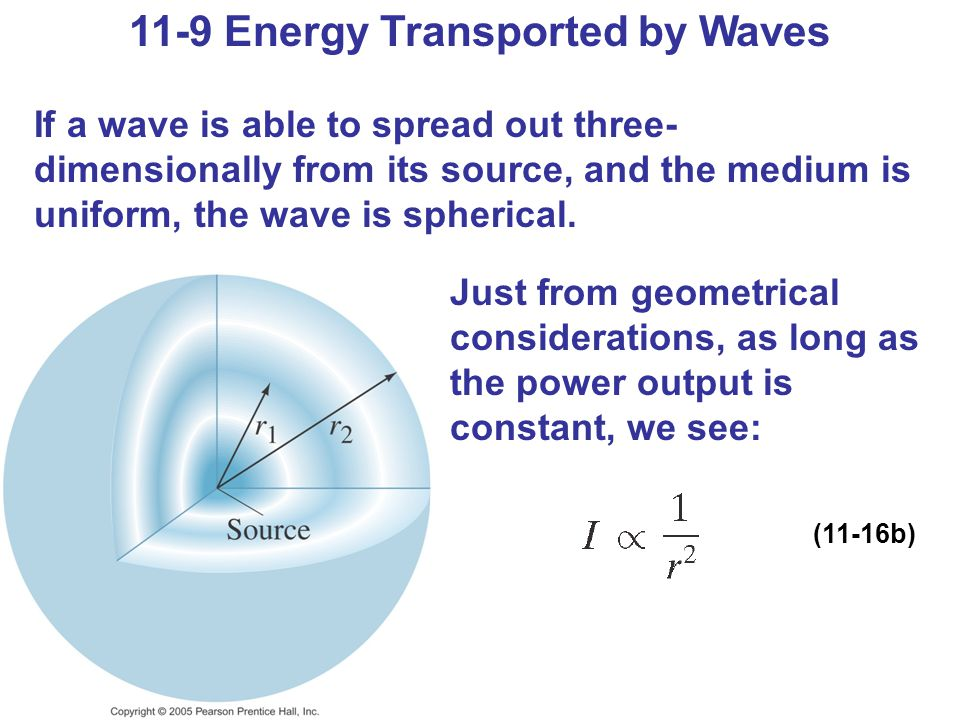 11-9 Energy Transported by Waves