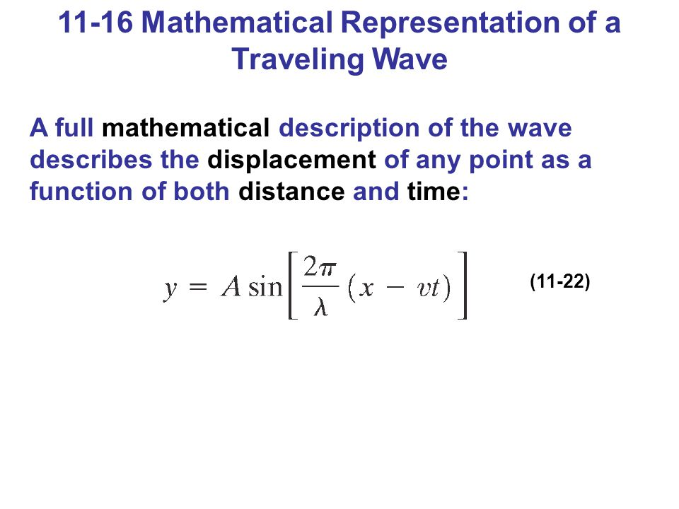 11-16 Mathematical Representation of a Traveling Wave