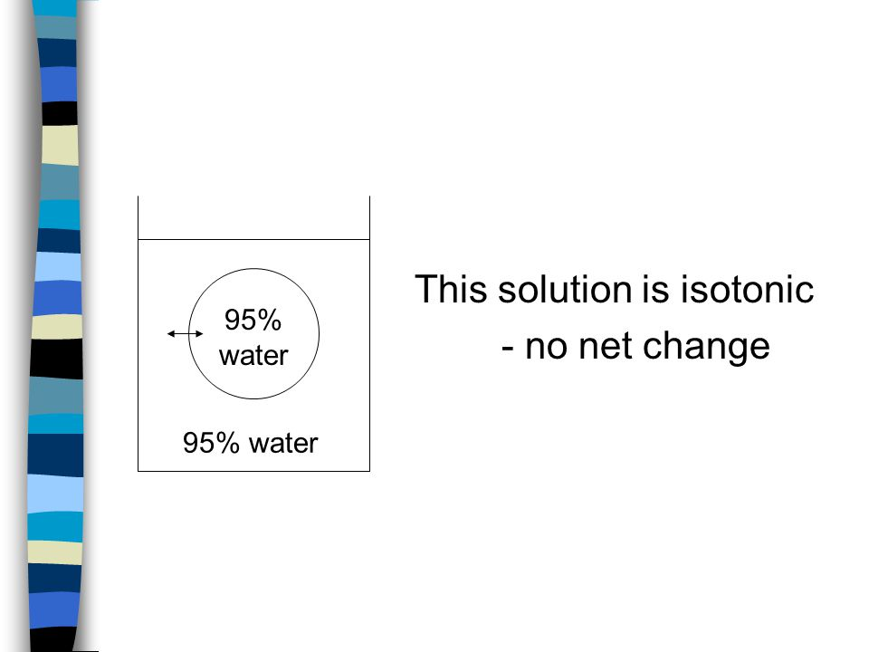 This solution is isotonic - no net change