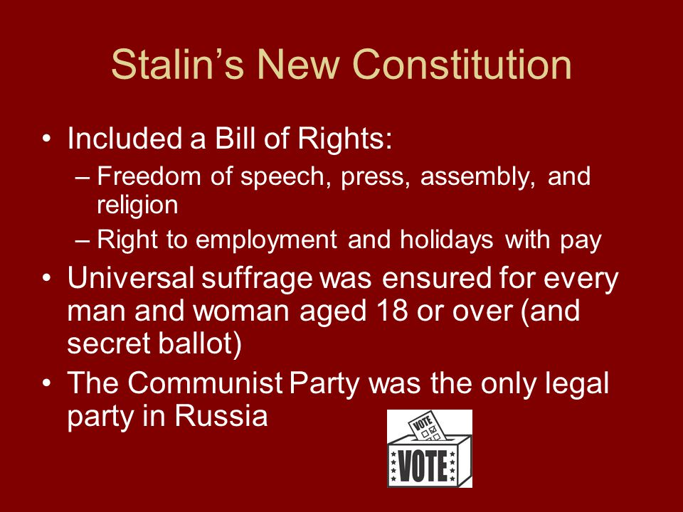 Stalin's New Constitution