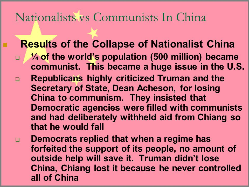 Nationalists vs Communists In China