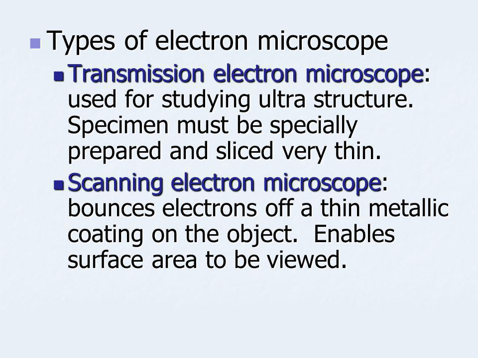 Types of electron microscope
