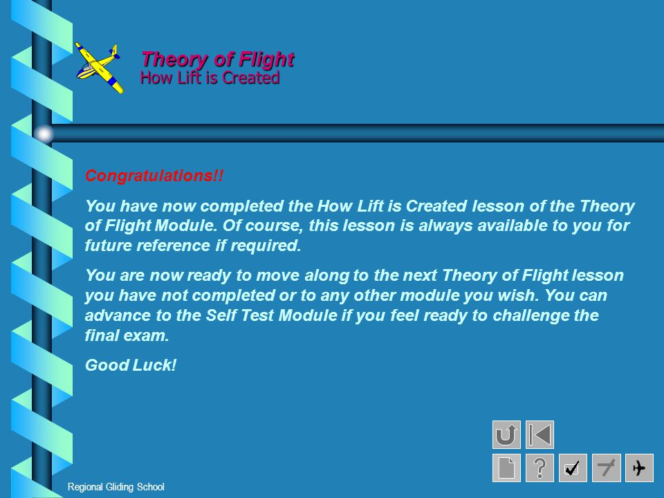 Theory of Flight How Lift is Created Congratulations!!