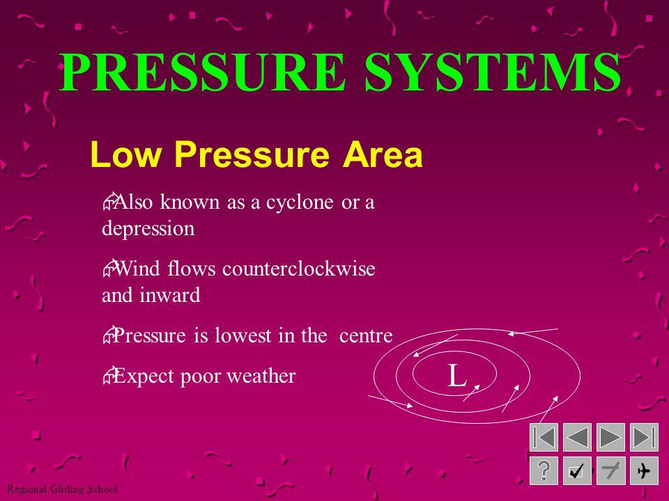 PRESSURE SYSTEMS Low Pressure Area L