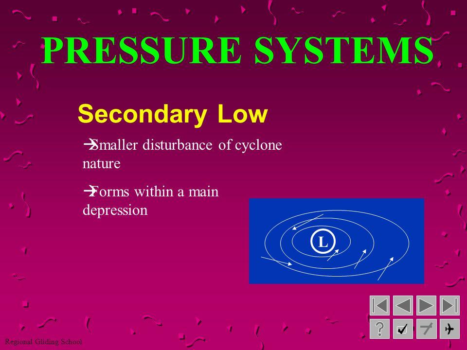 PRESSURE SYSTEMS Secondary Low L L L L