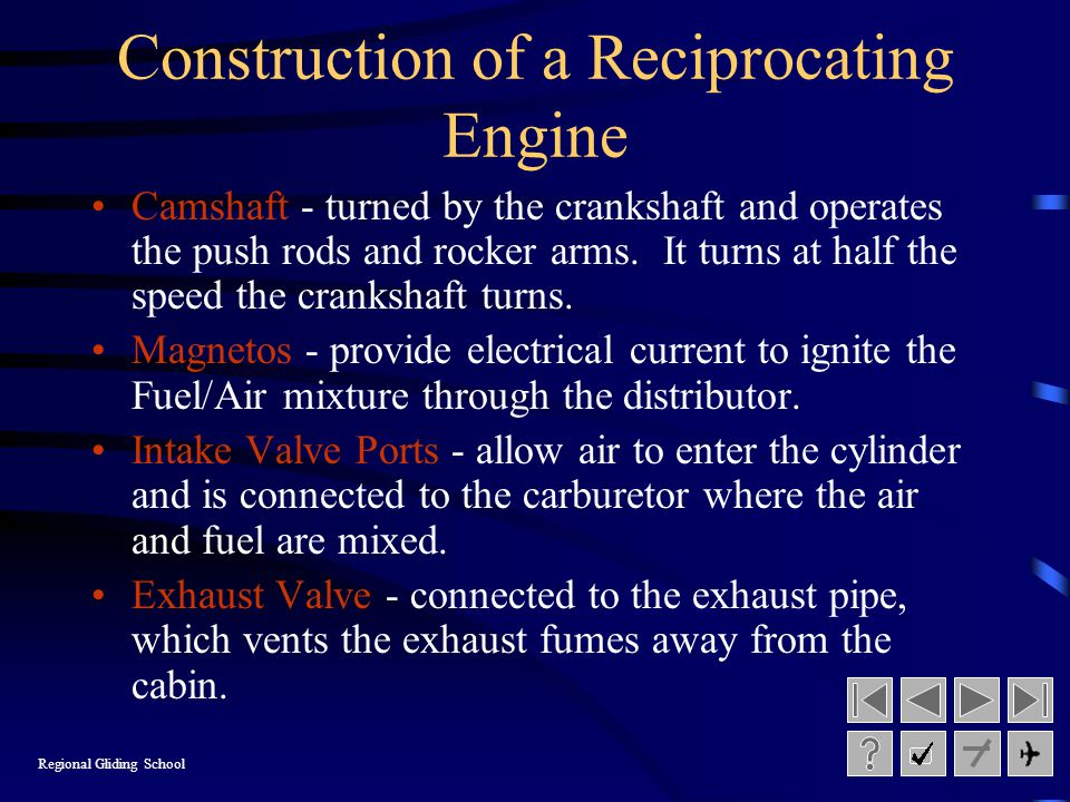 Construction of a Reciprocating Engine