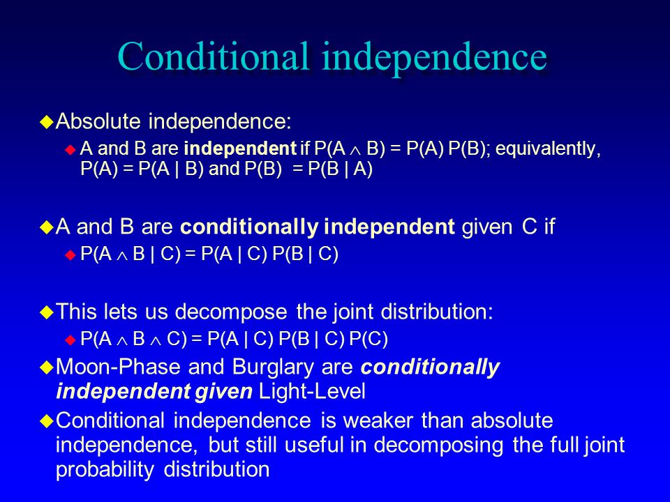 Conditional independence