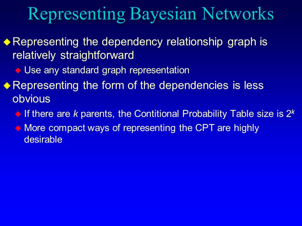 Representing Bayesian Networks