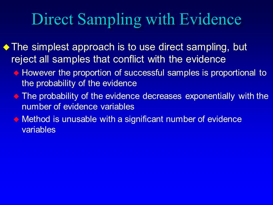 Direct Sampling with Evidence