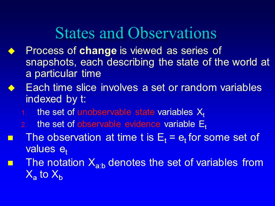 States and Observations