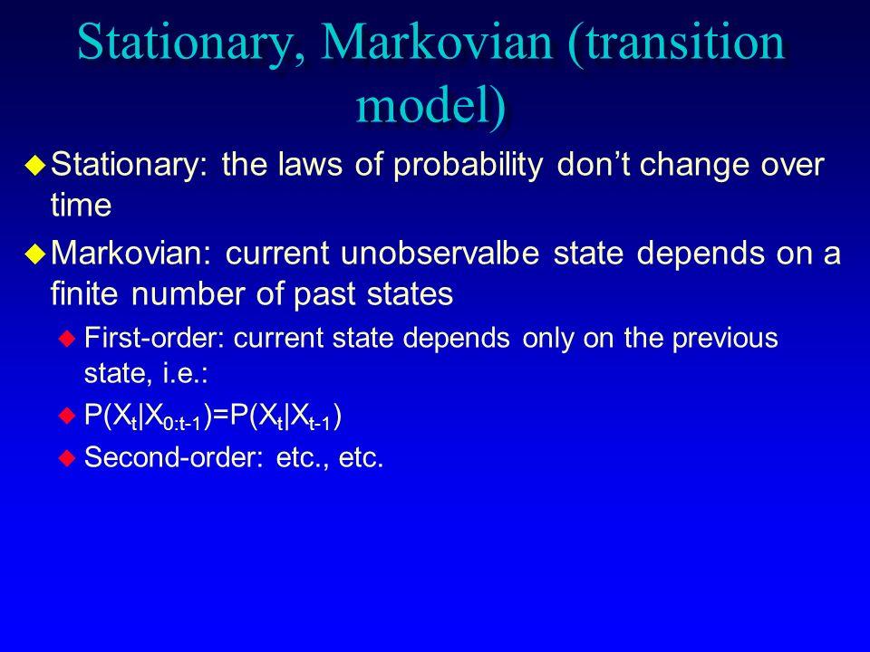 Stationary, Markovian (transition model)